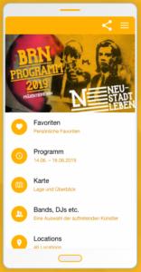 Screenshot BRN App 2019
